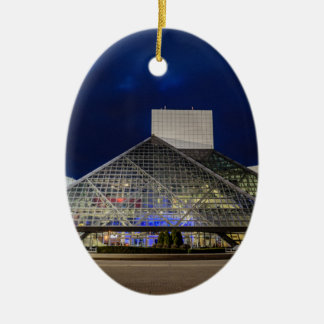 The Rock and Roll Hall of Fame at Dusk Christmas Ornament