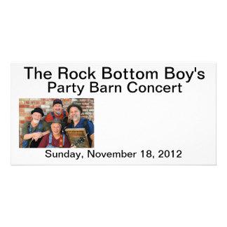 The Rock Bottom Boy s Party Barn Concert Post Card Custom Photo Card