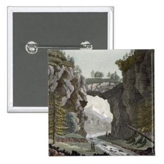 The Rock Bridge, Virginia, from 'Le Costume Ancien 15 Cm Square Badge