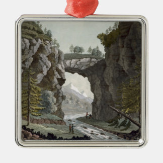 The Rock Bridge, Virginia, from 'Le Costume Ancien Christmas Ornament
