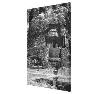 The rock-cut tomb of Artaxerxes I Canvas Print