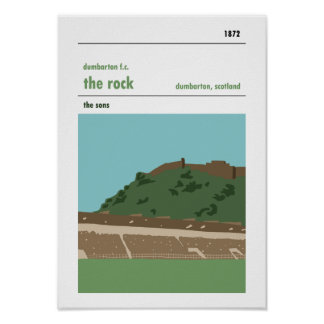 The Rock, Dumbarton. Haynes Manual Style Prints. Poster