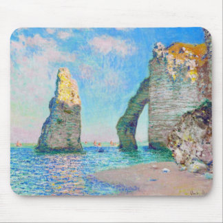 The Rock Needle and the Porte d'Aval Claude Monet Mouse Pad