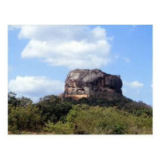 The rock of Sigiriya in Sri Lanka Postcard