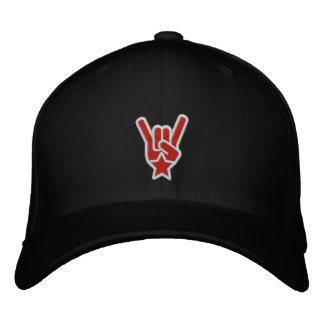 The Rock Sign Embroidered Hats