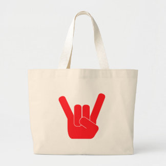 The Rock Sign Large Tote Bag