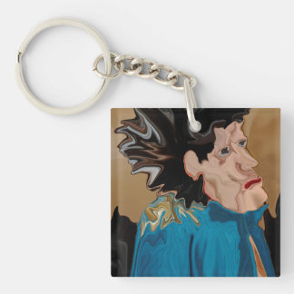 The Rocker in Mel Double-Sided Square Acrylic Key Ring