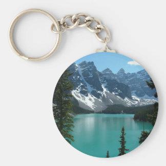 The Rockies - Moraine Lake Basic Round Button Key Ring