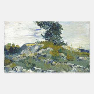 The Rocks by Vincent Van Gogh Rectangular Sticker