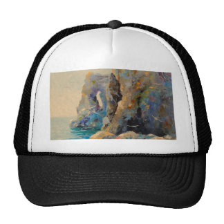 The rocks on the shore cap