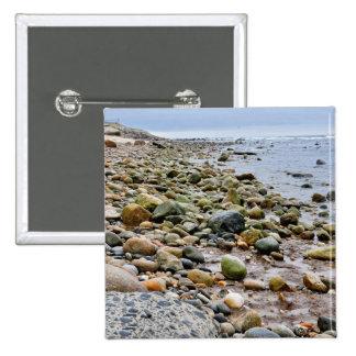 The Rocky Beaches of Montauk, Long Island, NY 15 Cm Square Badge