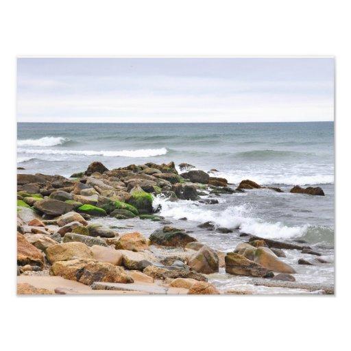 The Rocky Beaches of Montauk, Long Island, NY Photo Print