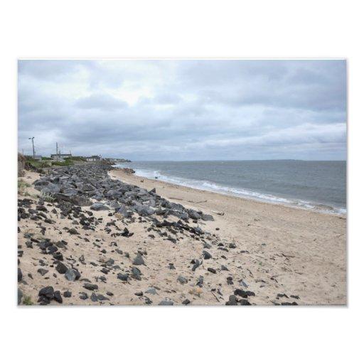 The Rocky Beaches of Montauk, Long Island, NY Photographic Print