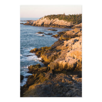 The rocky coast of Isle au Haut in Maine's Photograph