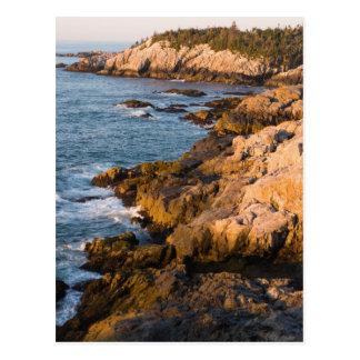 The rocky coast of Isle au Haut in Maine's Postcard