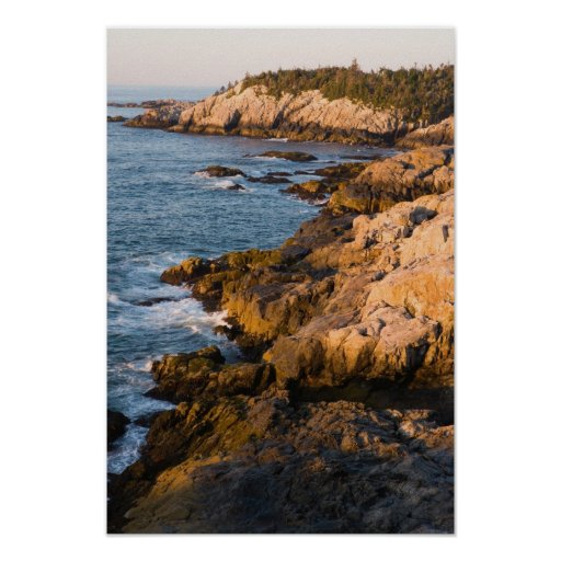 The rocky coast of Isle au Haut in Maine's Posters