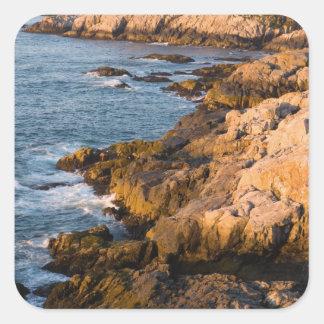 The rocky coast of Isle au Haut in Maine's Square Sticker