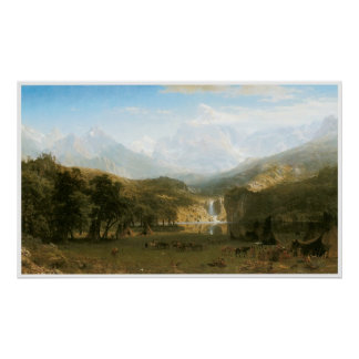 The Rocky Mountains, Lander's Peak 1863 Poster
