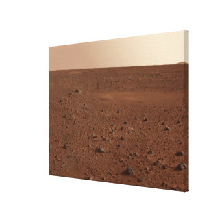 The rocky surface of Mars Canvas Print