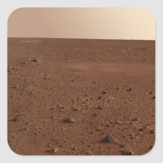 The rocky surface of Mars Square Sticker