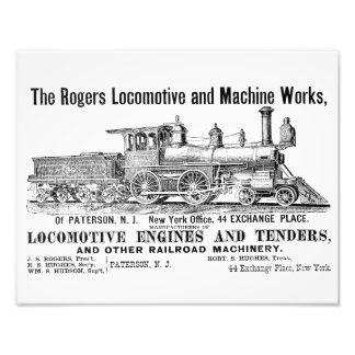 The Rogers Locomotive Works, Paterson,N.J Kodak Art Photo