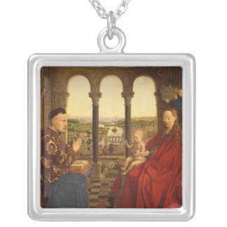 The Rolin Madonna , c.1435 Silver Plated Necklace