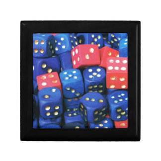 The roll of a dice trinket box