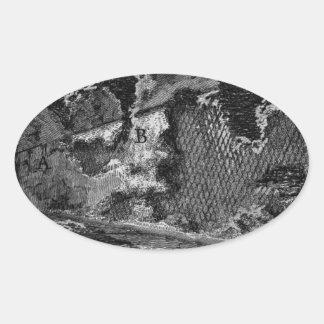 The Roman antiquities, t. 1, Plate XII. Aqua... Oval Sticker