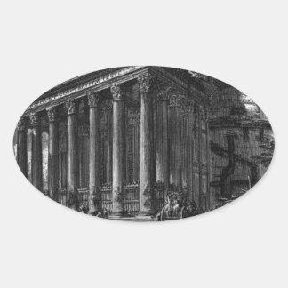The Roman antiquities, t. 1, Plate XIV. Pantheon. Oval Sticker