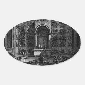 The Roman antiquities, t. 1, Plate XVIII. Tomb... Oval Sticker