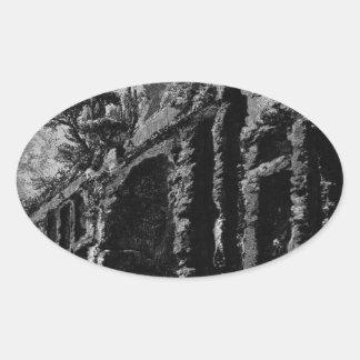 The Roman antiquities, t. 1, Plate XXIV. Celio Oval Sticker