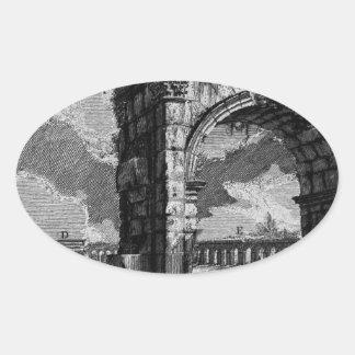 The Roman antiquities, t. 1, Plate XXVI. Arch Oval Sticker