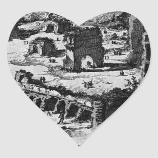 The Roman antiquities, t. 1, Plate XXVIII. 'Baths Heart Sticker