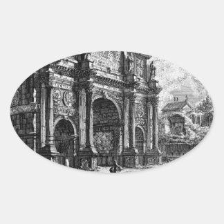 The Roman antiquities, t. 1, Plate XXXVI Oval Sticker