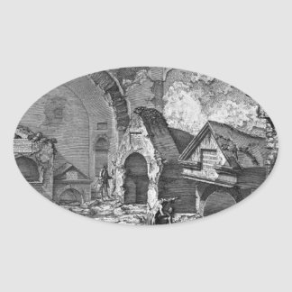 The Roman antiquities, t. 2, Plate IX. Plan Oval Sticker