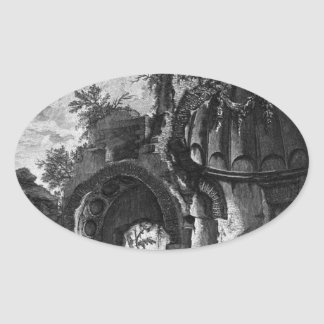 The Roman antiquities, t. 2, Plate LX. A view Oval Sticker