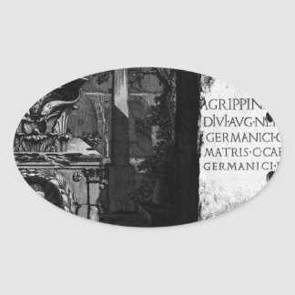 The Roman antiquities, t. 2, Plate LXIII Oval Sticker