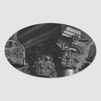The Roman antiquities, t. 2, Plate XXIII. Remains Oval Sticker