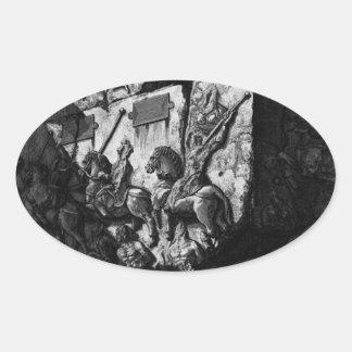 The Roman antiquities, t. 3, Plate XIX Oval Sticker