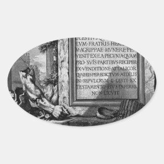 The Roman antiquities, t. 3, Plate XLIII. Nuts... Oval Sticker