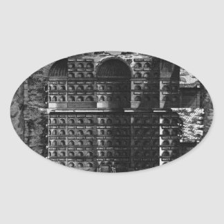 The Roman antiquities, t. 3, Plate XXIV Oval Sticker