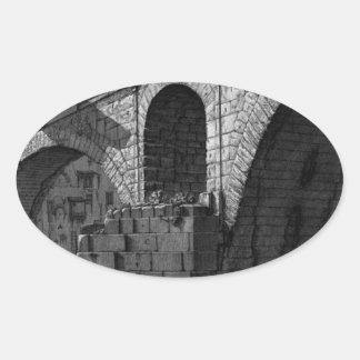 The Roman antiquities, t. 4, Plate XVI Oval Sticker
