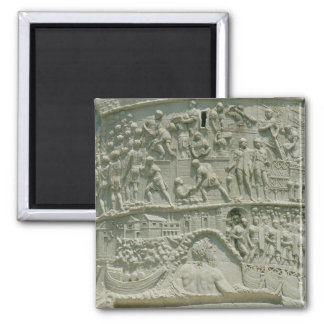 The Roman army crossing the Danube Square Magnet