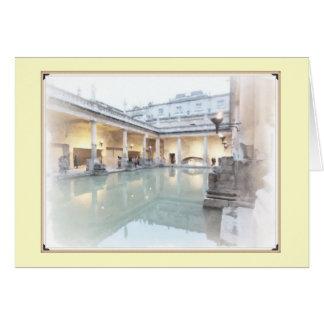 The Roman Baths Card