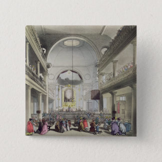 The Roman Catholic Chapel, Lincolns Inn Fields, fr 15 Cm Square Badge