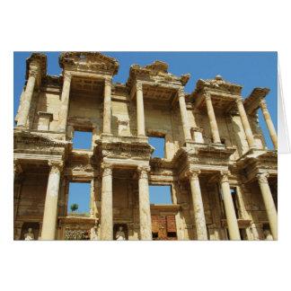The Roman Celsus Library, Ephesus, Turkey Card