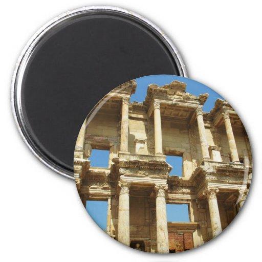 The Roman Celsus Library, Ephesus, Turkey Magnet