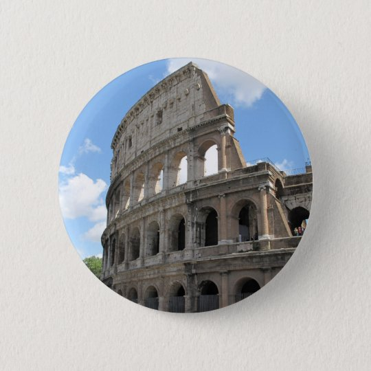 The Roman Colosseum 6 Cm Round Badge