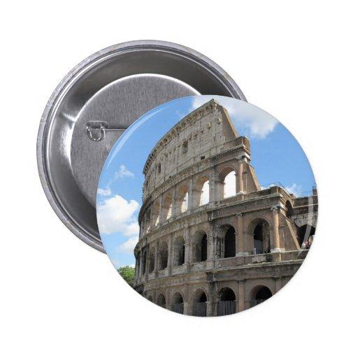 The Roman Colosseum 6 Cm Round Badge