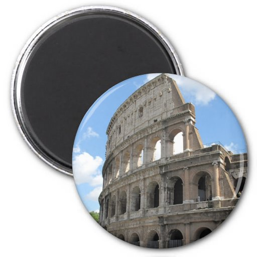 The Roman Colosseum 6 Cm Round Magnet